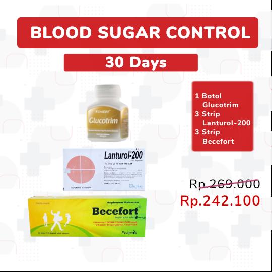 BLOOD SUGAR CONTROL 30-DAYS - PAKET SEHAT