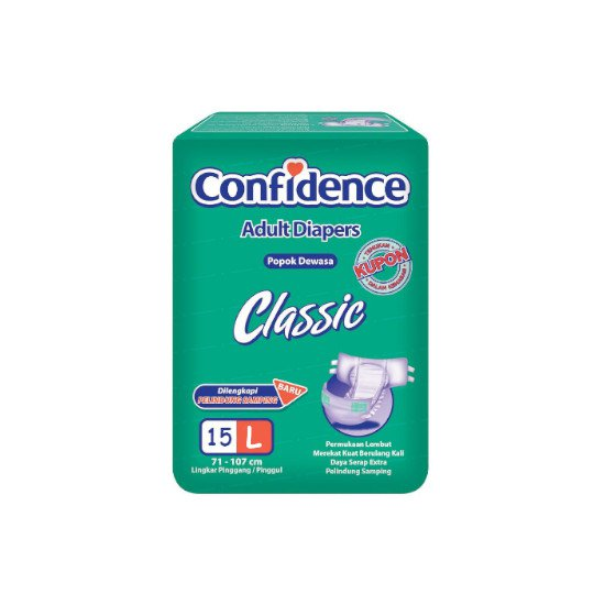 CONFIDENCE ADULT CLASSIC L 15 PIECES