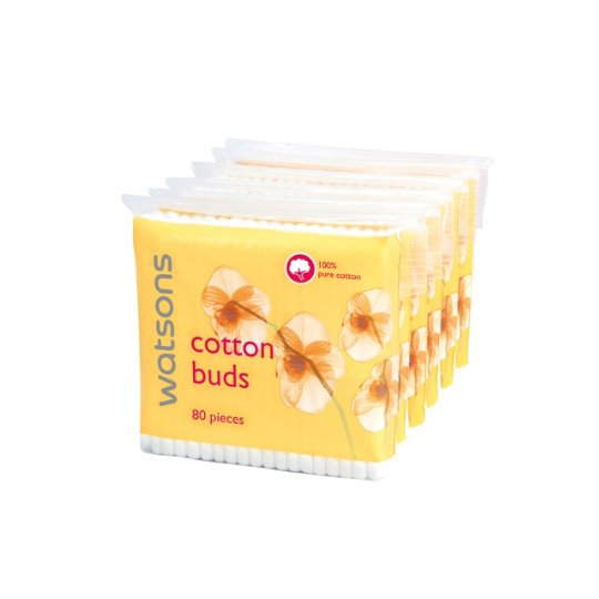 WATSONS COTTON BUDS 80 PIECES 6 PACK