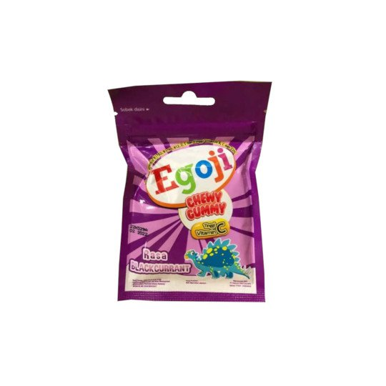 Egoji Chewy Gummy Blackcurrant 20 g Isi 10