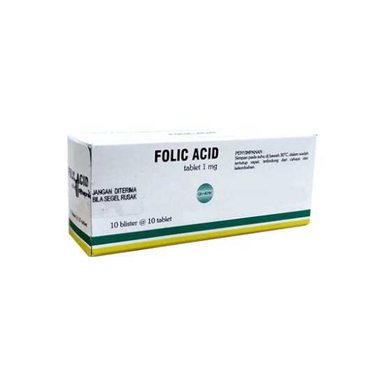 FOLIC ACID 1 MG 10 TABLET