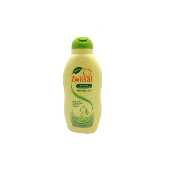 ZWITSAL BABY HAIR LOTION NATURAL WITH ALOE VERA KEMIRI SELEDRI 200 ML