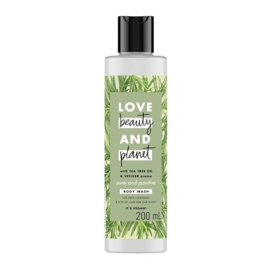 LOVE BEAUTY PLANET PURE AND POSITIVE BODY WASH 200 ML
