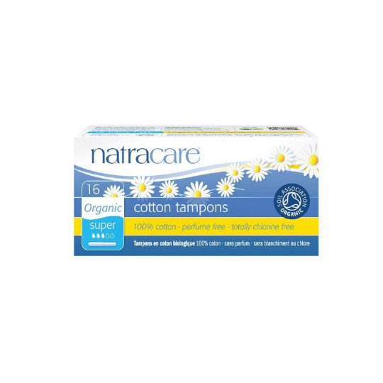 NATRACARE TAMPONS ORGANIC SUPER 16 PADS