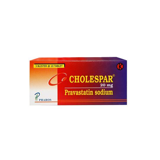 CHOLESPAR 20 MG 10 TABLET