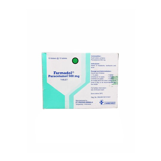FARMADOL 500 MG 10 TABLET