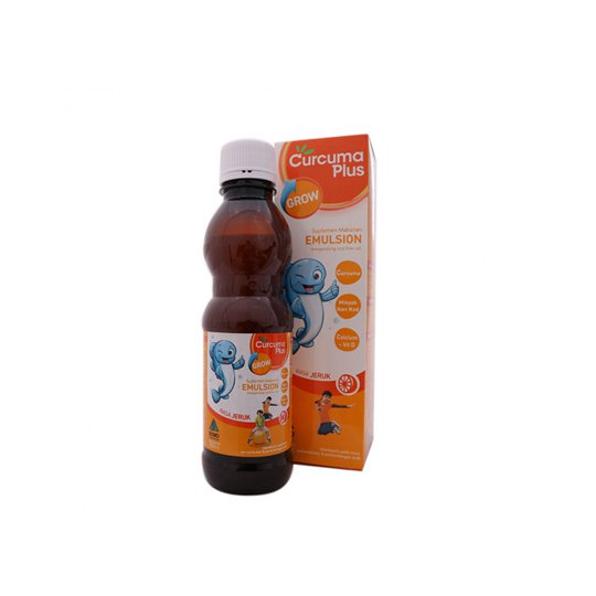 CURCUMA PLUS EMULSION GROW RASA JERUK SIRUP 200 ML