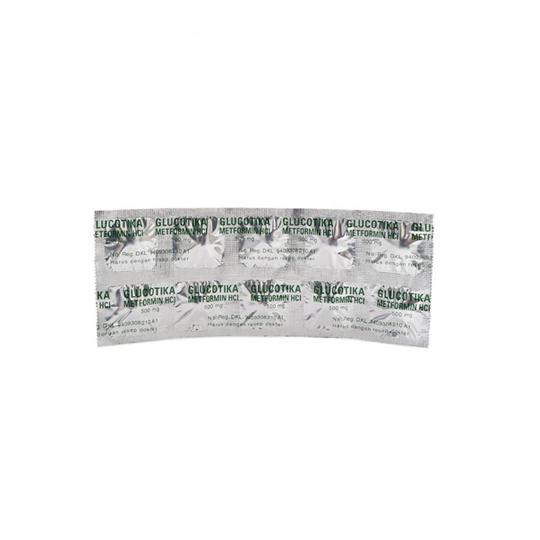 GLUCOTICA 500 MG 10 TABLET