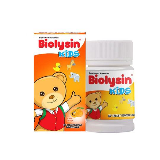 BIOLYSIN KIDS RASA ORANGE 30 TABLET