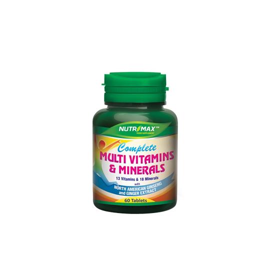 NUTRIMAX COMPLETE MULTIVITAMINS & MINERALS 60 TABLET