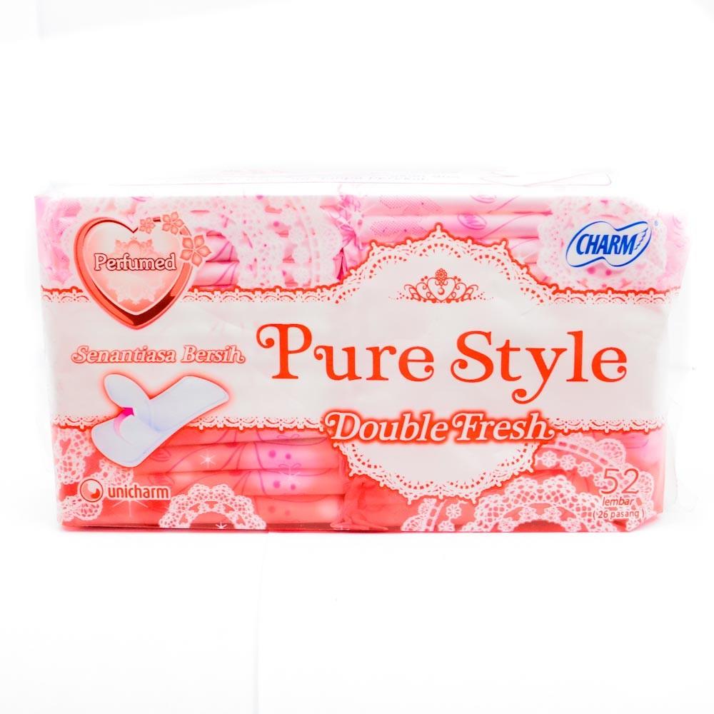 Charm Pantyliner Double Fresh Parfume 52 Pads
