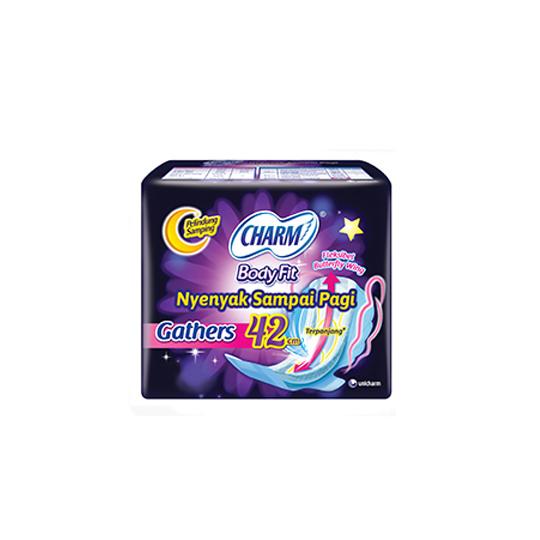 CHARM SAFE NIGHT GATHERS 42 CM 8 PADS