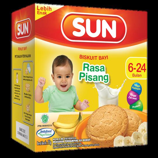 SUN BABY RUSK PISANG NEW