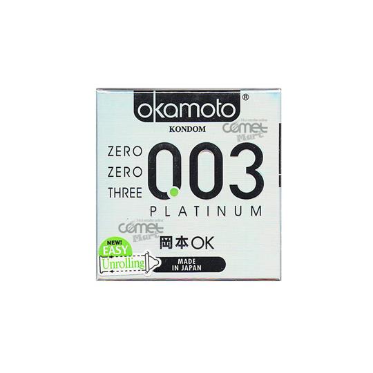 KONDOM OKAMOTO 003 PLATINUM 3'S