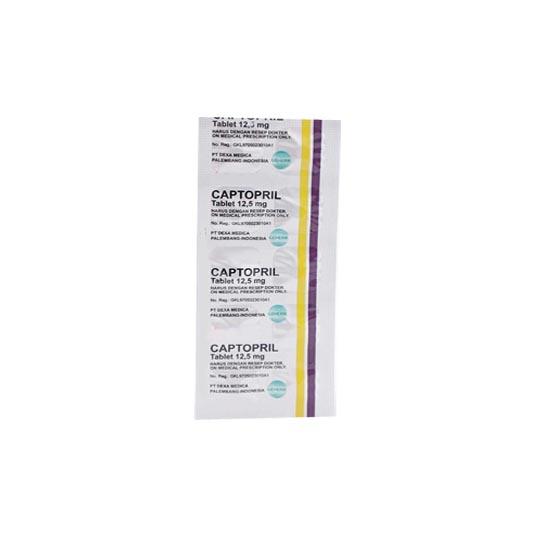 CAPTOPRIL 12.5 MG 10 TABLET