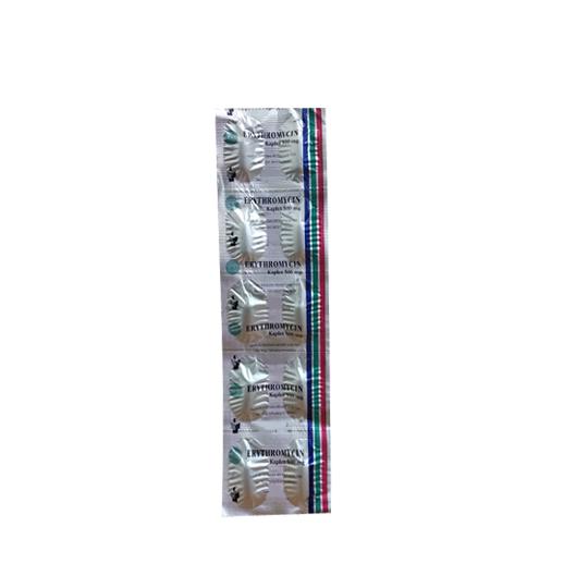 ERYTHROMYCIN 500 MG 10 KAPLET