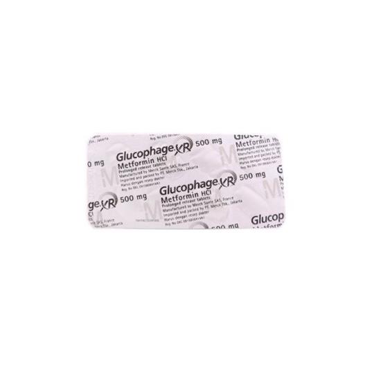 GLUCOPHAGE XR 500 MG 8 TABLET