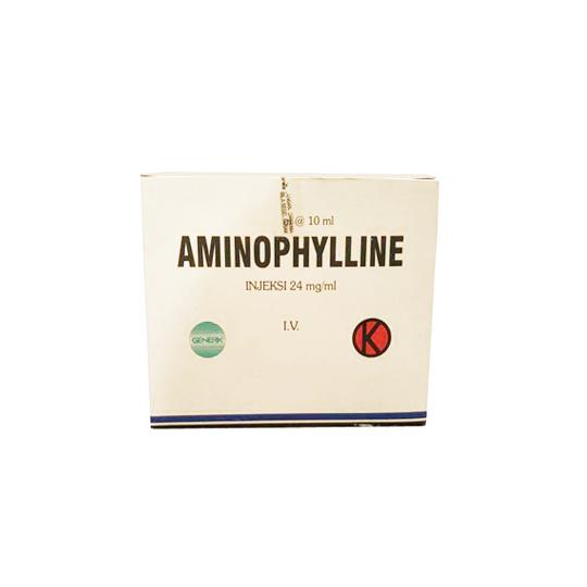 AMINOPHYLLINE 24 MG/ML INJEKSI 10 ML