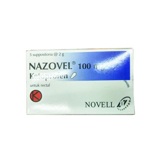NAZOVEL 100 MG SUPPOSITORIA