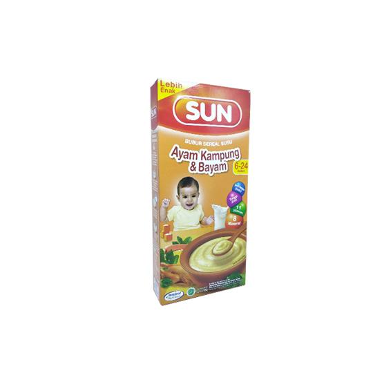 Sun Bubur Sereal Susu Ayam Kampung & Bayam 120 g