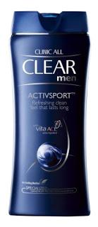 CLEAR SHAMPOO MEN ACTIVSPORT 90 ML