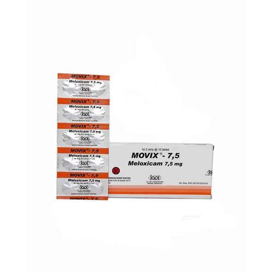 MOVIX 7.5 MG 10 TABLET