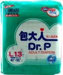 DR P ADULT DIAPERS BASIC L 13 PIECES