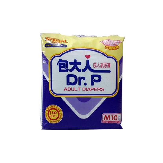 DR P ADULT DIAPER SPECIAL M 10 PADS