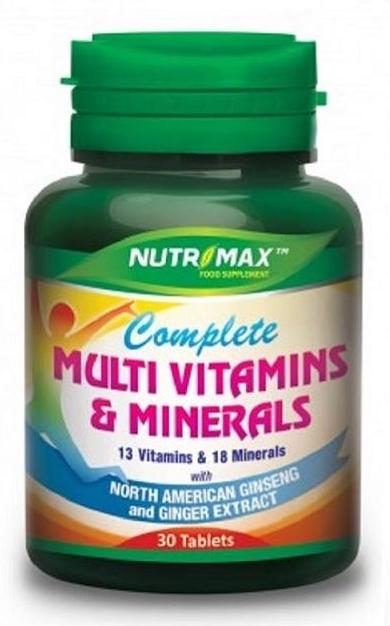 NUTRIMAX COMPLEX MULTIVITAMIN GINGSENG & GINGER TABLET '31