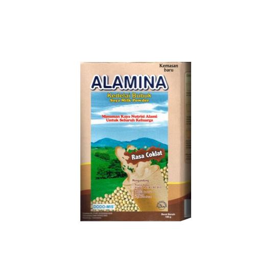 ALAMINA SUSU KEDELAI RASA COKELAT POWDER 150 G
