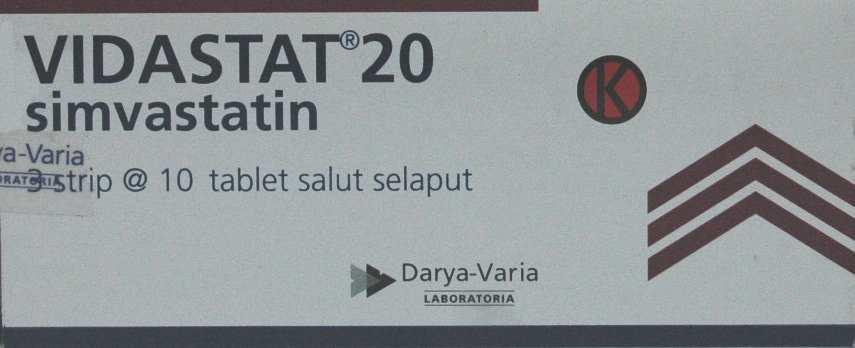 VIDASTAT 20 MG 10 TABLET
