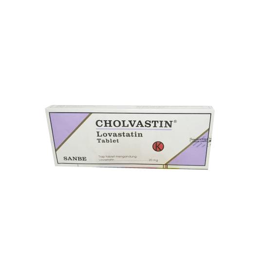 CHOLVASTIN 20 MG 10 TABLET